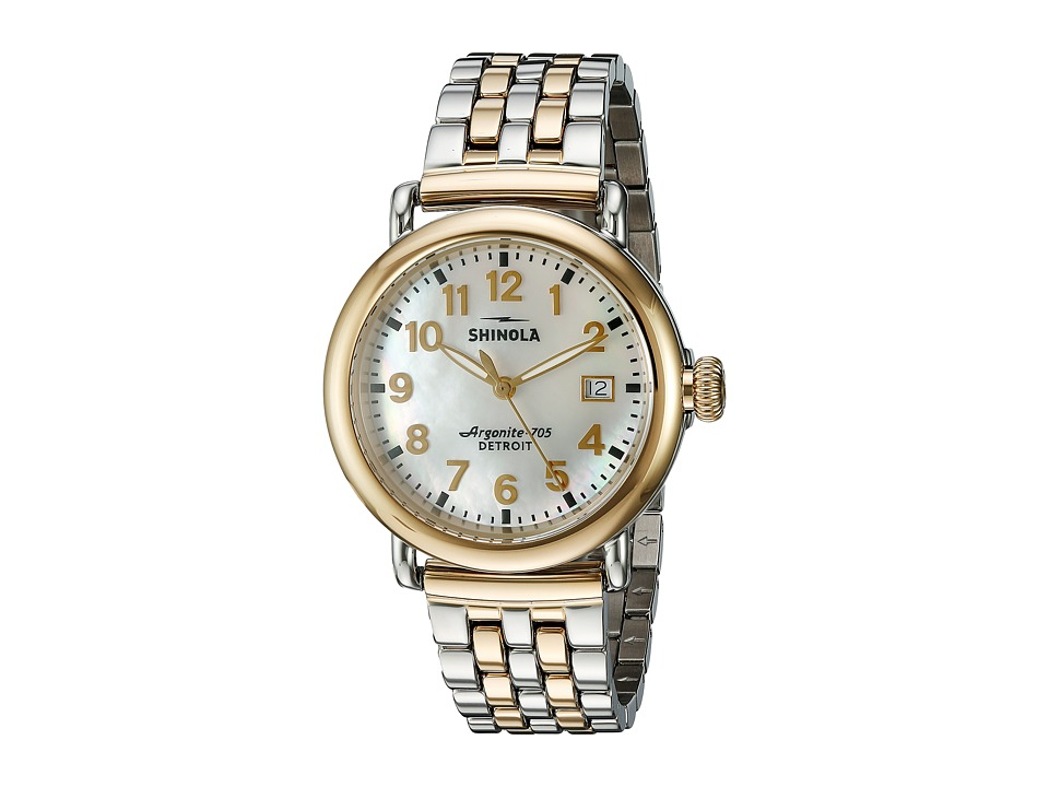 Shinola Detroit - The Runwell 36mm - 10000237 (White/Stainless Steel/Gold) Watches