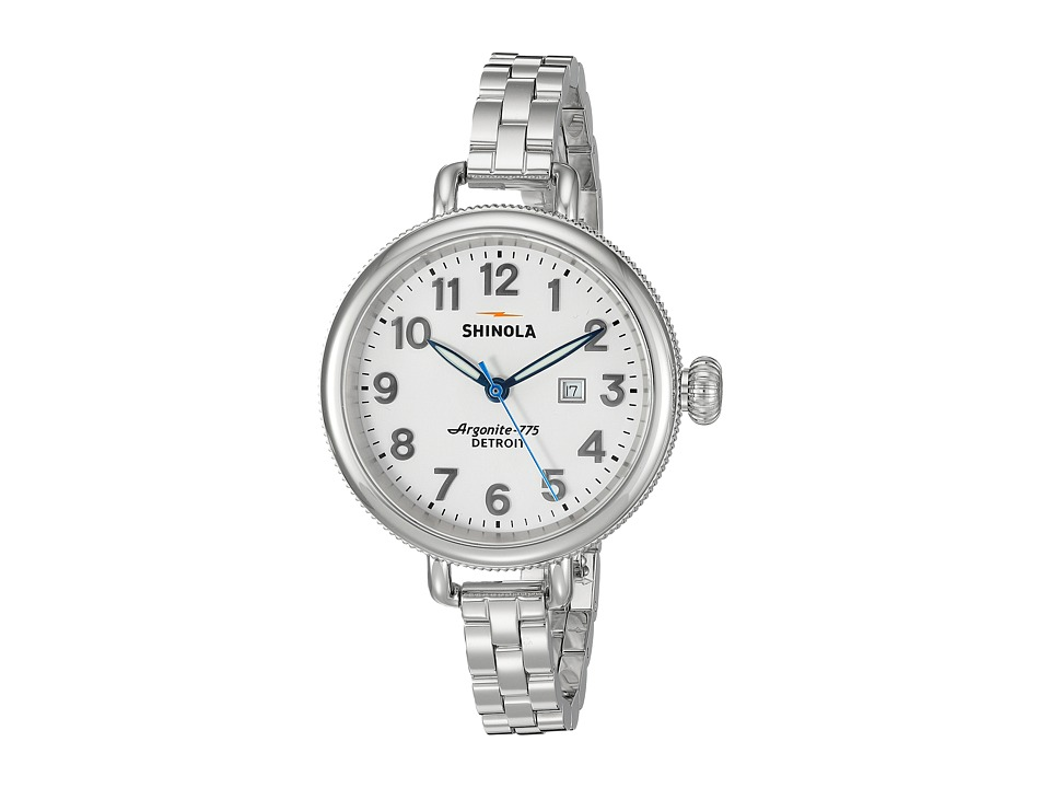 Shinola Detroit - The Birdy 34mm - 10000206 (White/Stainless Steel) Watches