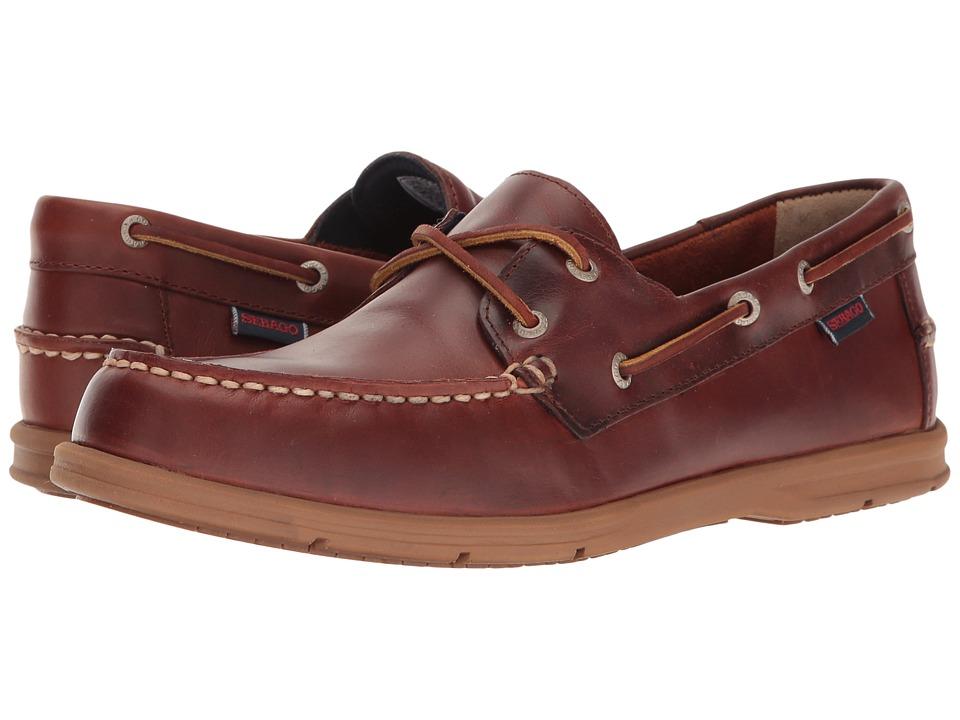 Sebago Litesides Two Eye (Brown Oiled Waxy Leather Bottom) Men's Shoes