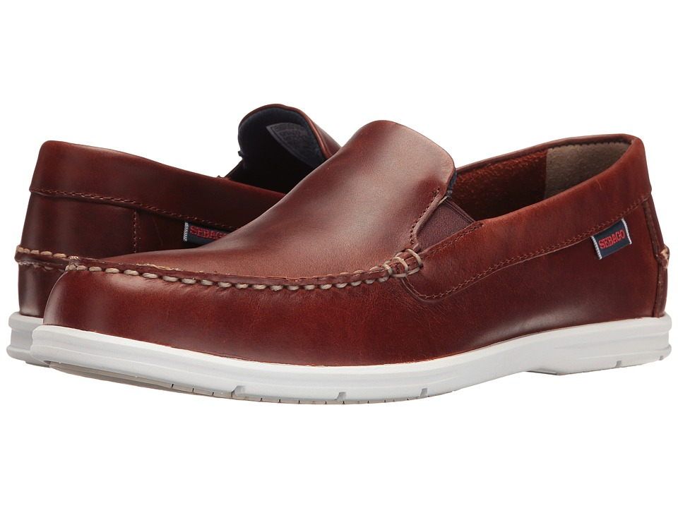 Sebago Litesides Slip-On (Brown Oiled Waxy Leather) Men