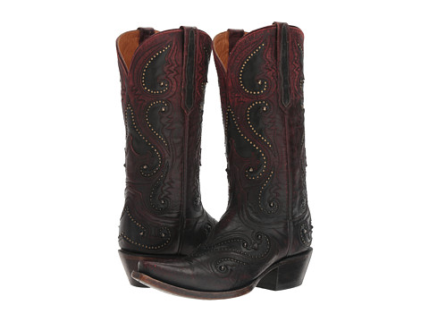 Lucchese Gemma - Ombre Red w/ Studs