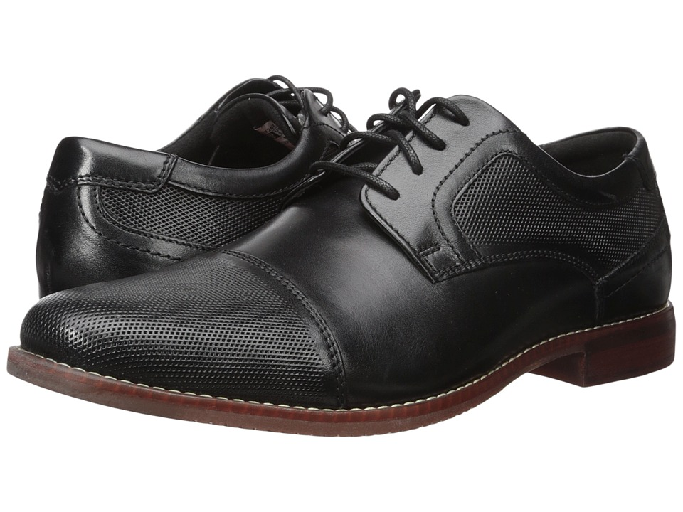 Rockport Style Purpose Perf Cap Toe (Black Leather) Men's...