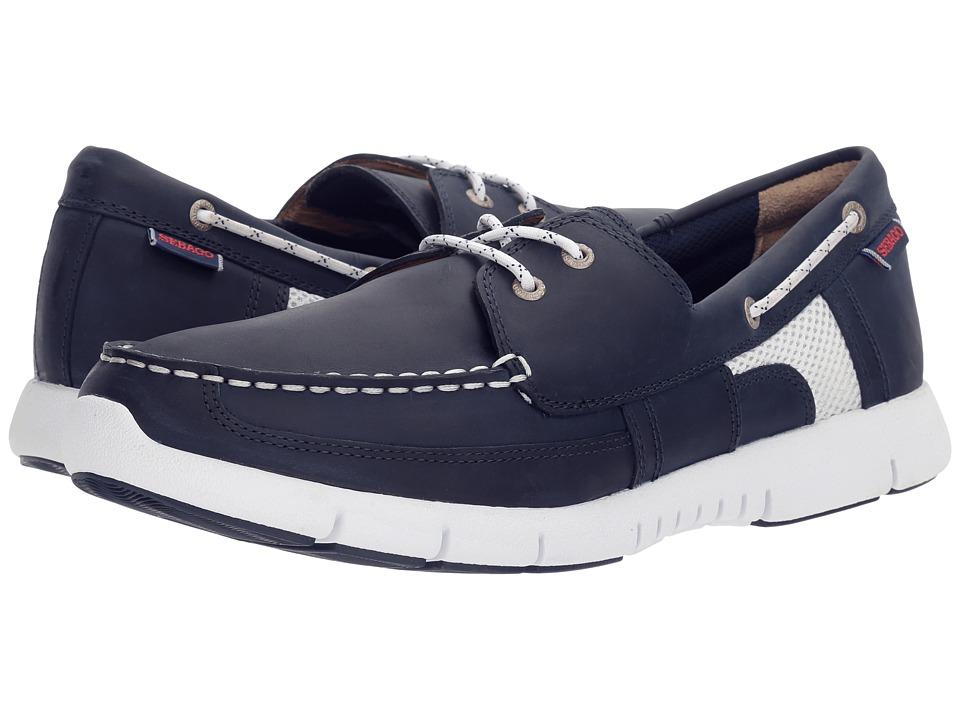Sebago - Kinsley Two Eye (Navy Leather) Men's Shoes