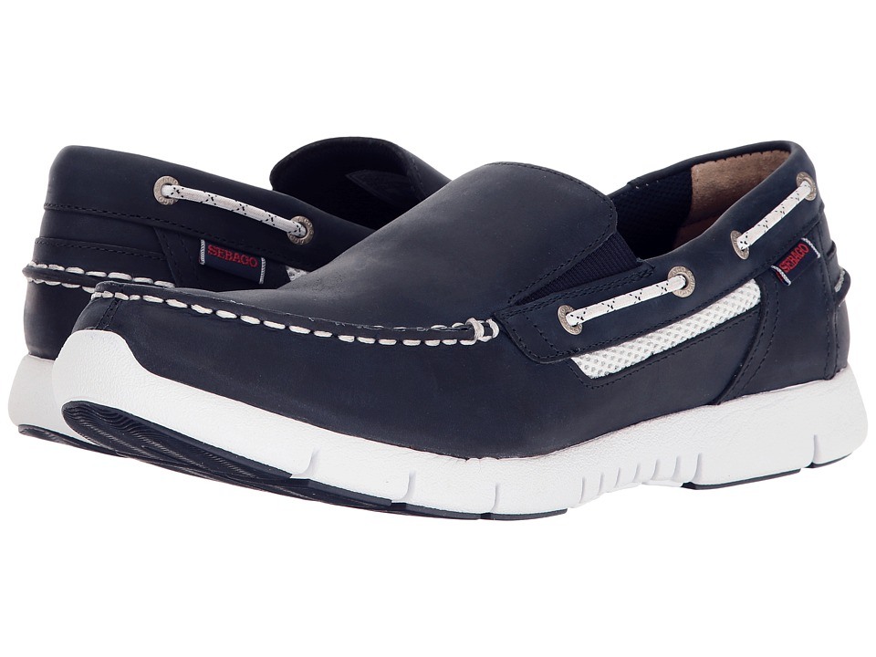 Sebago Kinsley Slip-On (Navy Leather) Men