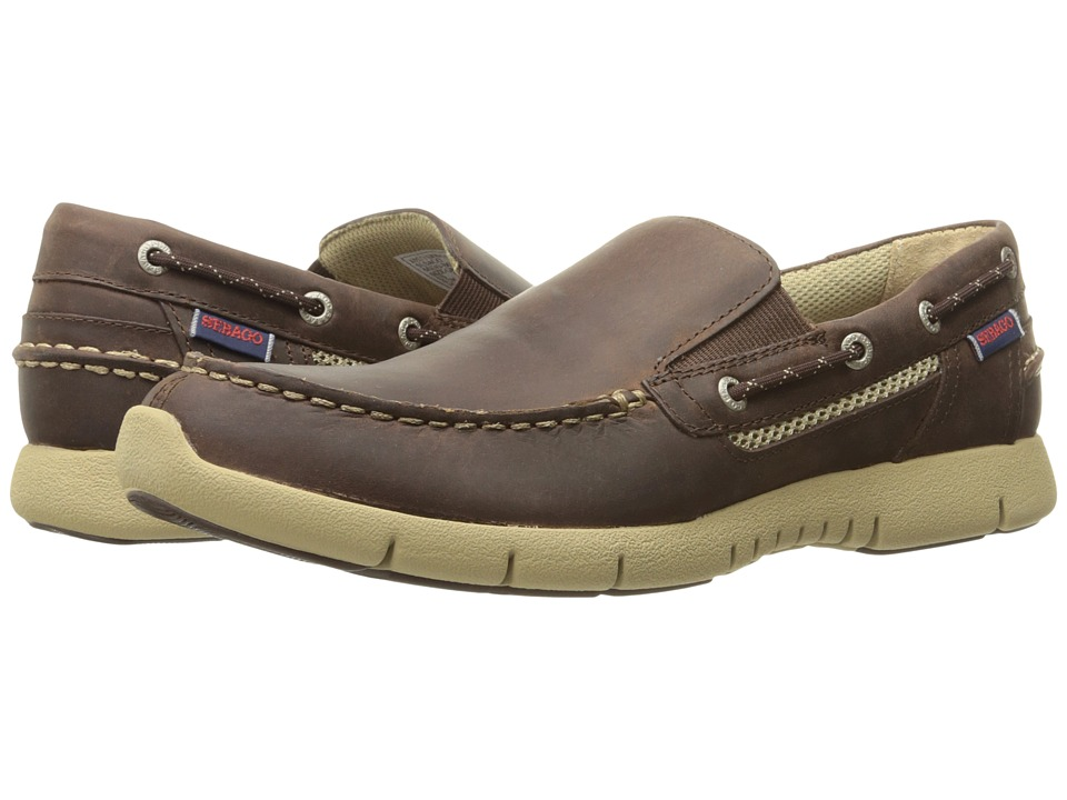 Sebago Kinsley Slip-On (Dark Brown Leather) Men