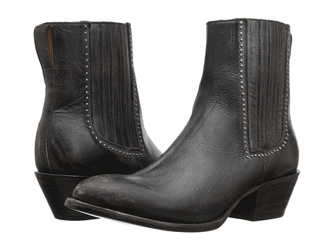 Lucchese Adele - Black Distressed Leather