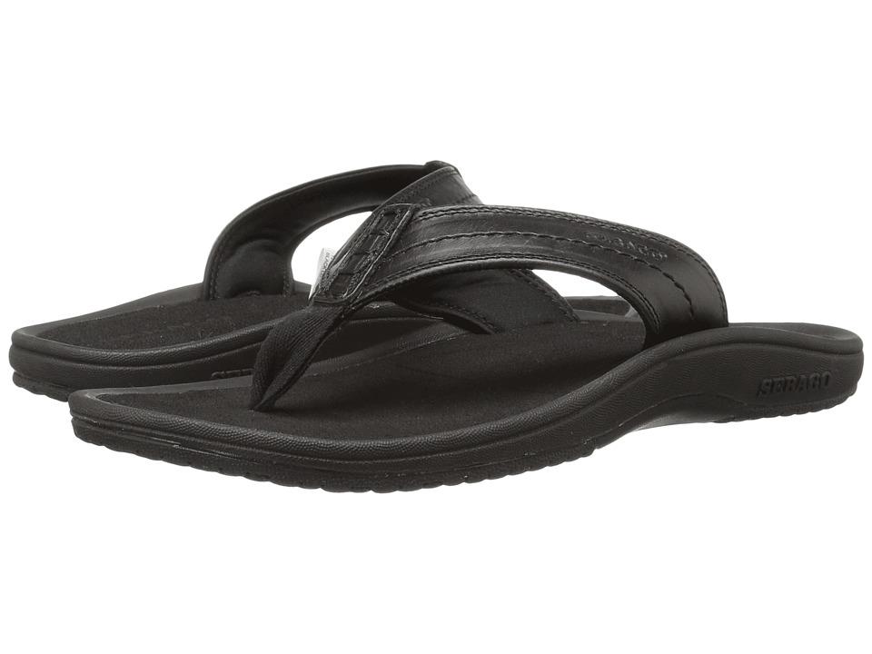 Sebago Drift Dune Thong (Black Leather) Men