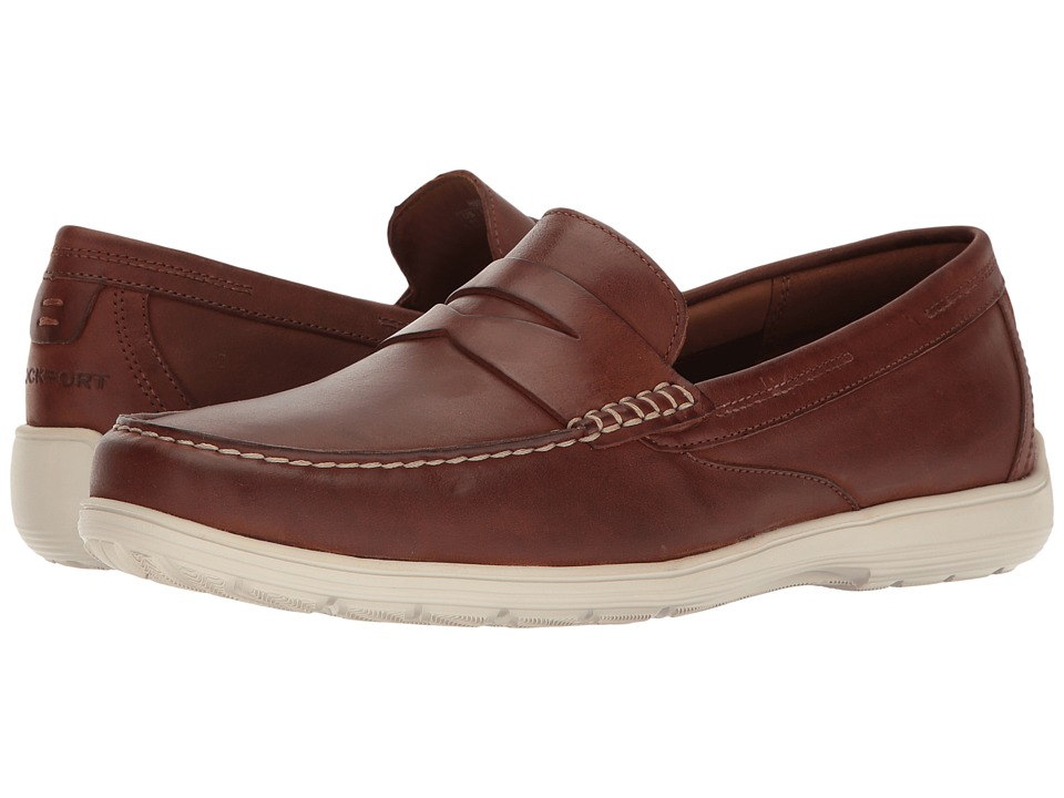 Rockport - Total Motion Loafer Penny (Tan Leather) Mens Slip on  Shoes