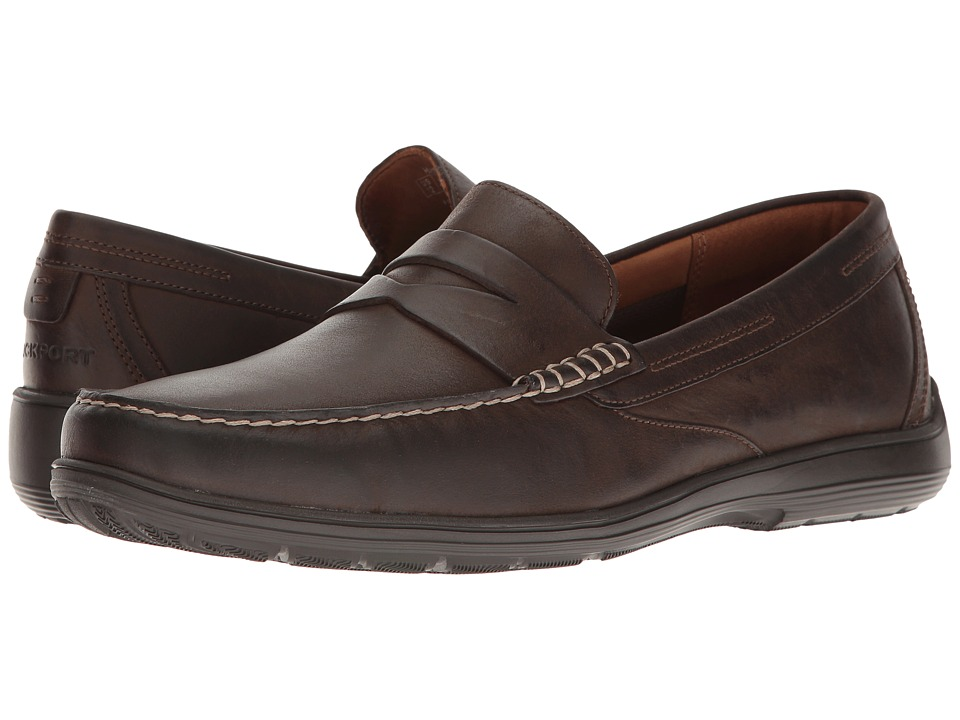 Rockport Total Motion Loafer Penny (Seal Brown Leather) M...