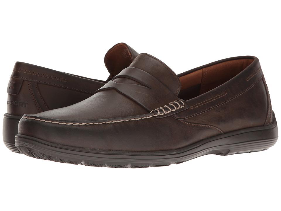 Rockport Total Motion Loafer Penny (Seal Brown Leather) Men