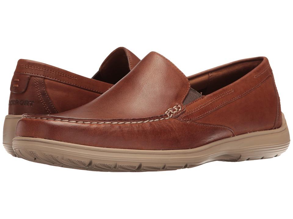 Rockport - Total Motion Loafer Venetian (Tan Leather 2) Mens Slip on  Shoes