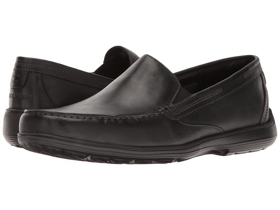 Rockport Total Motion Loafer Venetian (Black Leather) Men