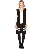 Vince Camuto - Sleeveless Milano Stripe Open Front Cardigan