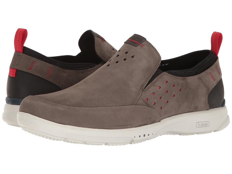 Rockport TruFlex Slip-On (Dark Olive) Men's Slip on  Shoes