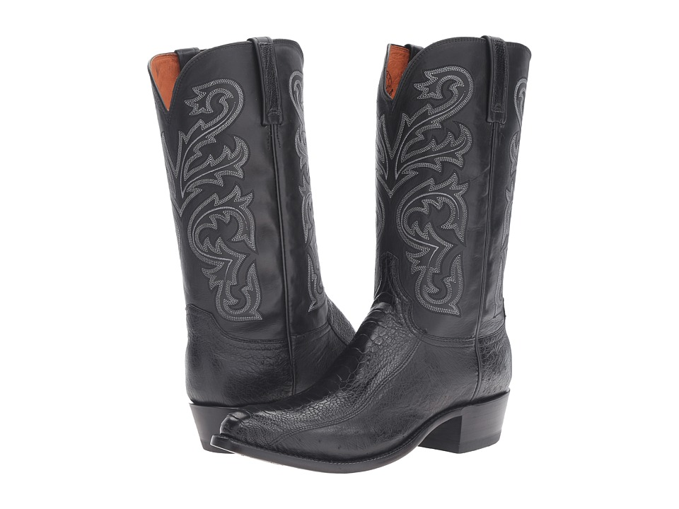 Lucchese - Nick (Black Ostrich) Mens Boots