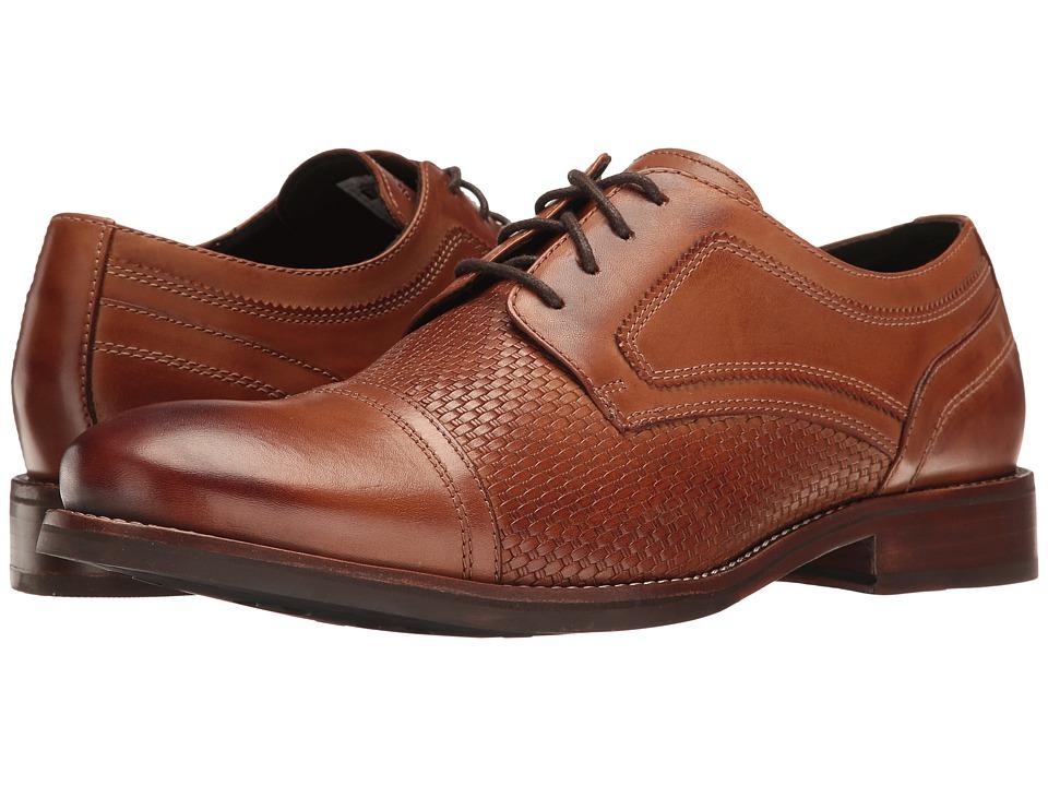 Rockport - Wyat Cap Toe (Cognac Leather) Men's Shoes