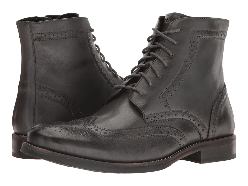 Rockport Wyat Wingtip Boot (Dark Shadow Leather) Men