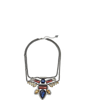 GUESS - Multi Stone on Double Chain Necklace