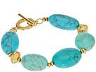 LAUREN Ralph Lauren Paradise Found 7 1/2 Turquoise Nugget Bead Bracelet