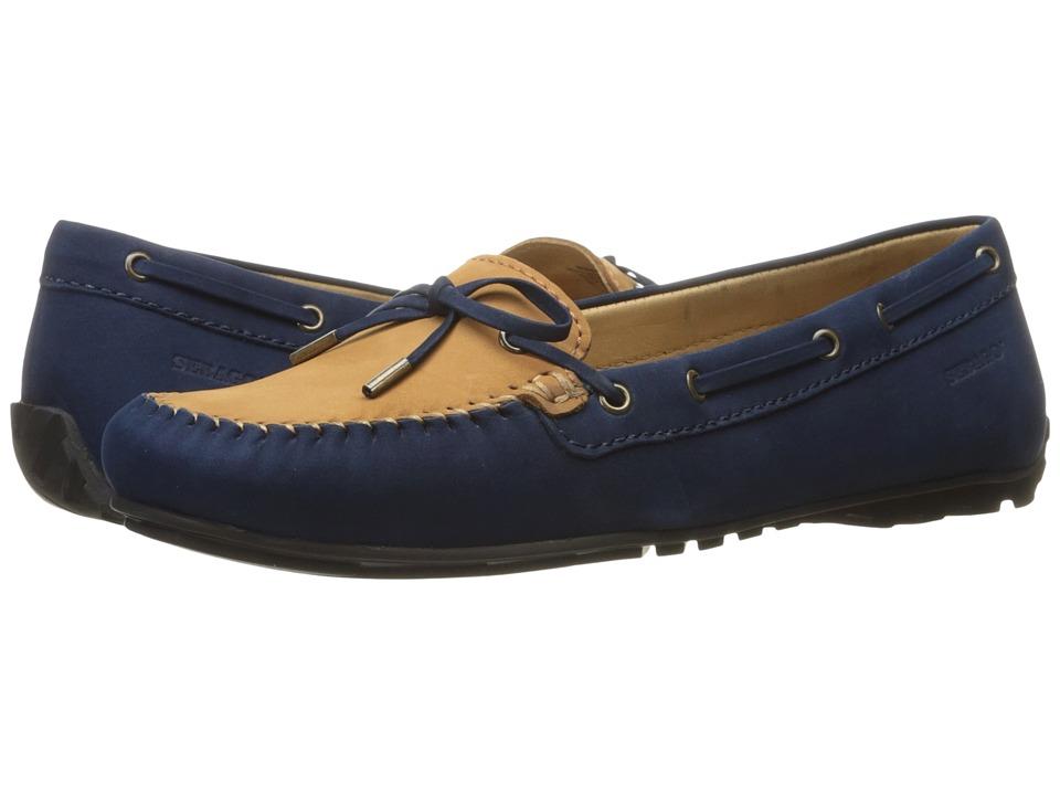 Sebago - Harper Tie (Navy/Tan Nubuck) Women's Shoes