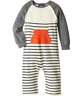 Toobydoo - Orange Pocket Sweater Knit Jumpsuit (Infant)
