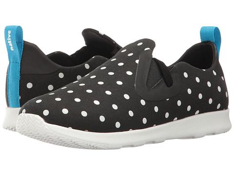 Native Kids Shoes Apollo Moc Print (Little Kid) - Jiffy Black/Shell White/Shell Dots