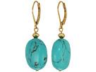 LAUREN Ralph Lauren Paradise Found Turquoise Nugget Drop Earrings