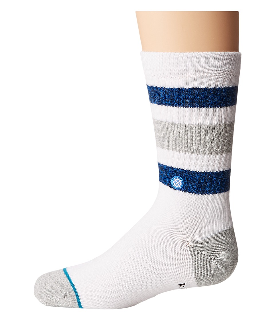 Stance - Boyd (Little Kid/Big Kid) (White) Men's Crew Cut Socks Shoes
