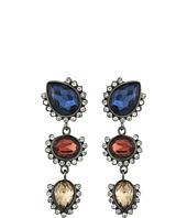 GUESS - Triple Stone Drop Earrings