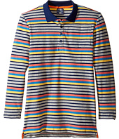 Toobydoo - Multi Stripe Long Sleeve Polo (Toddler/Little Kids/Big Kids)