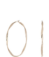 GUESS - Dimpled Clutchless Hoop Earrings