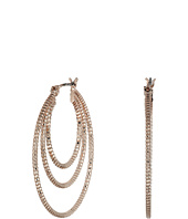 GUESS - Textured 3 Ring Snap Hoop Earrings
