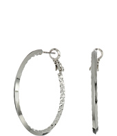 GUESS - Inside Textured Clutchless Hoop Earrings