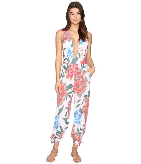 Mara Hoffman Arcadia Wrap Jumpsuit - White/Pink