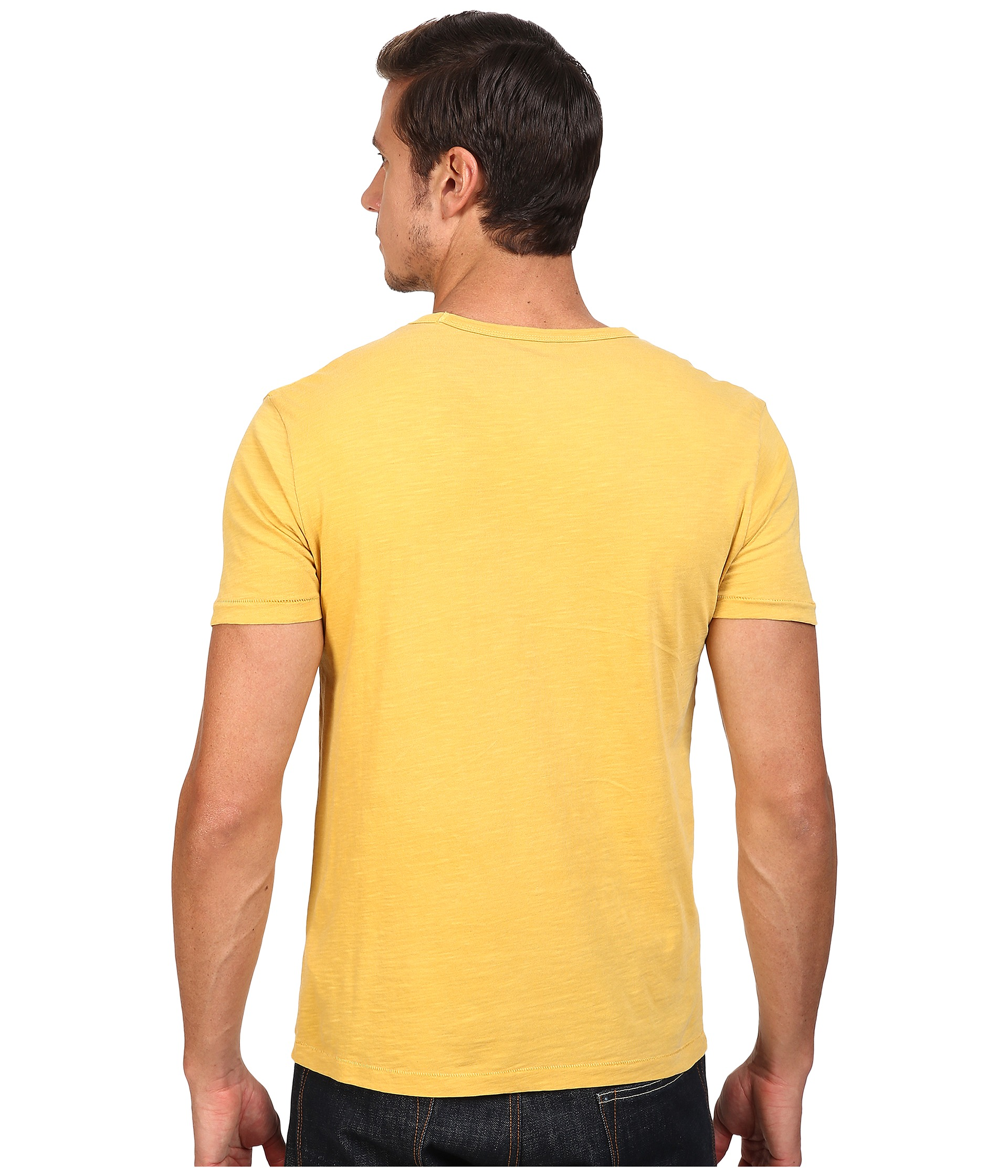 Lucky Brand Triumph Tiger Head Graphic Tee Golden Spice