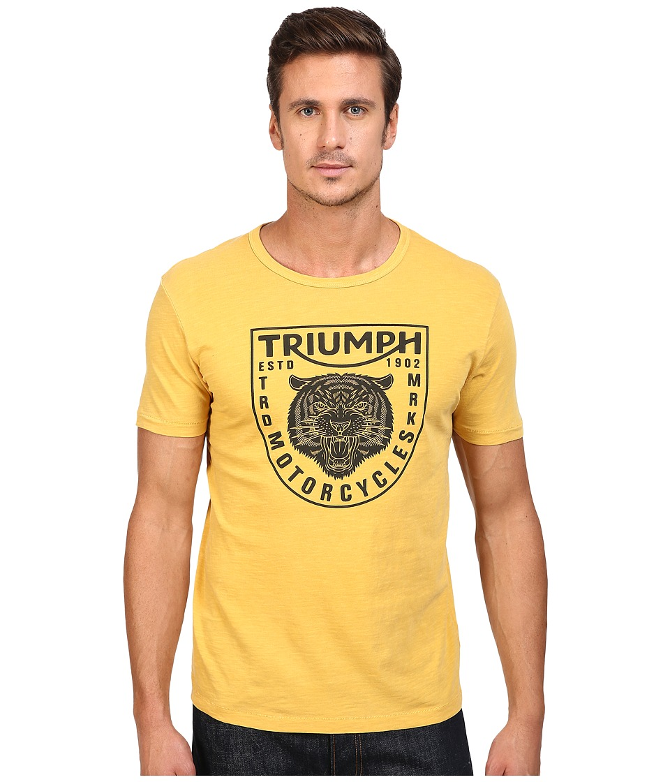 Lucky Brand - Triumph Tiger Head Graphic Tee (Golden Spice) Men