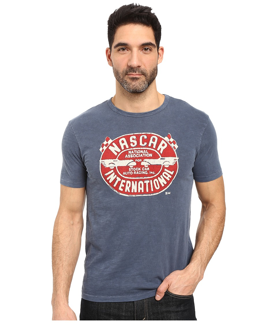 Lucky Brand - Nascar International Graphic Tee (American Navy) Men