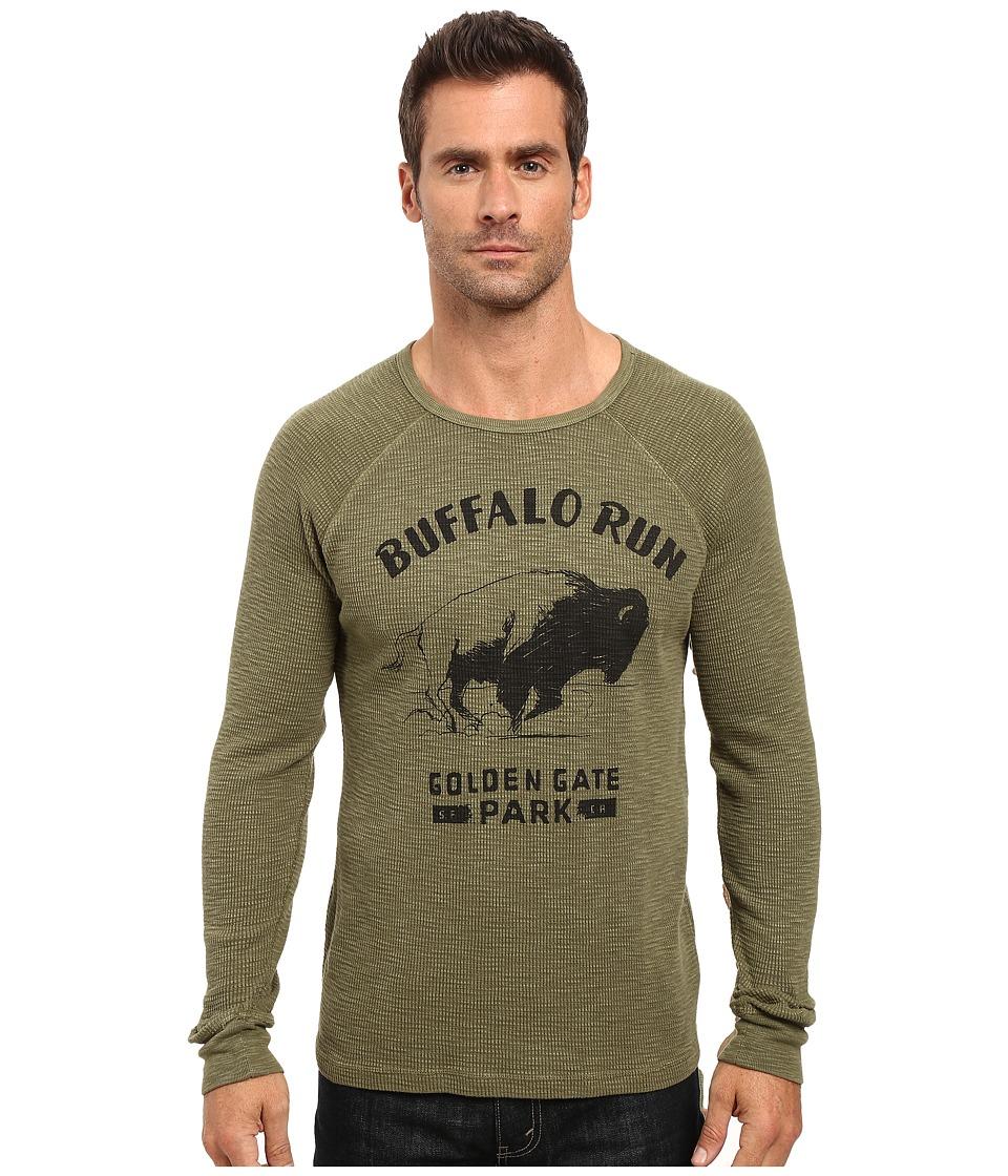 Lucky Brand Buffalo Run Graphic Tee (Burnt Olive) Men