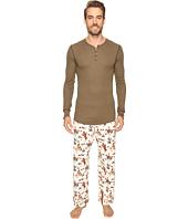 BedHead - Long Sleeve Henley Pajama Set