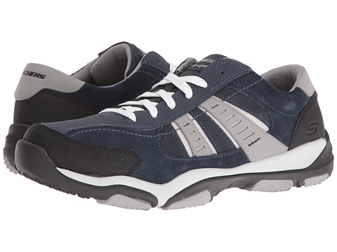 SKECHERS Classic Fit Larson - Sotes - Navy Gray Suede