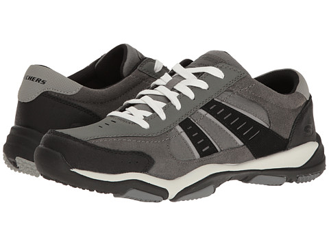 SKECHERS Classic Fit Larson - Sotes - Charcoal Leather/Canvas