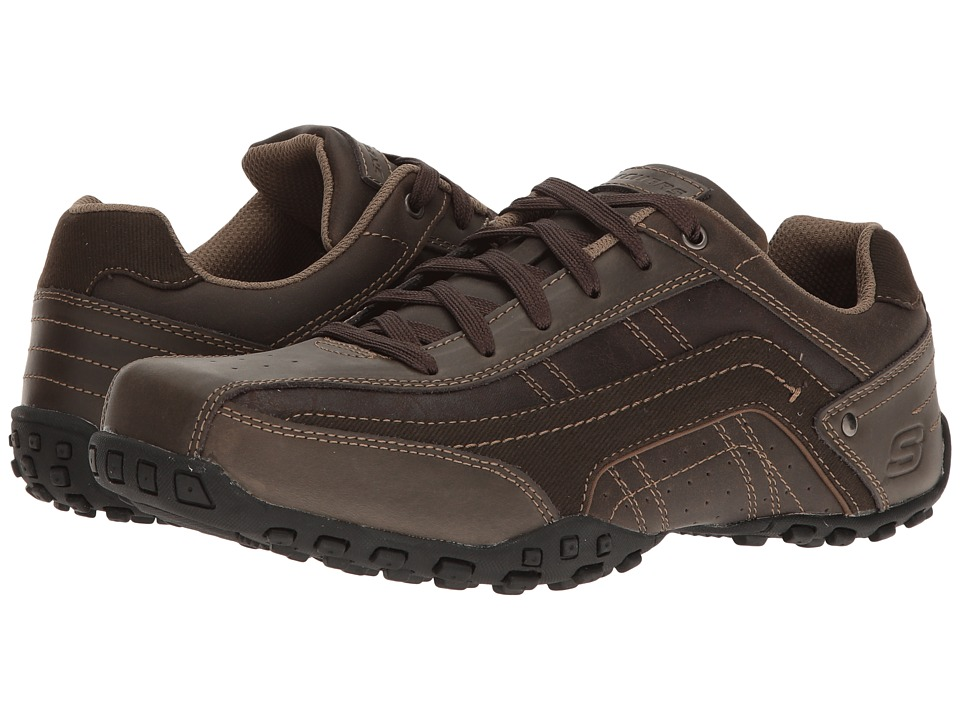 SKECHERS Classic Fit Citywalk Elendo (Chocolate Leather) Men