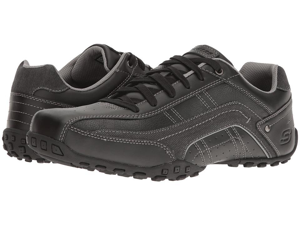 SKECHERS Classic Fit Citywalk Elendo (Black Leather) Men