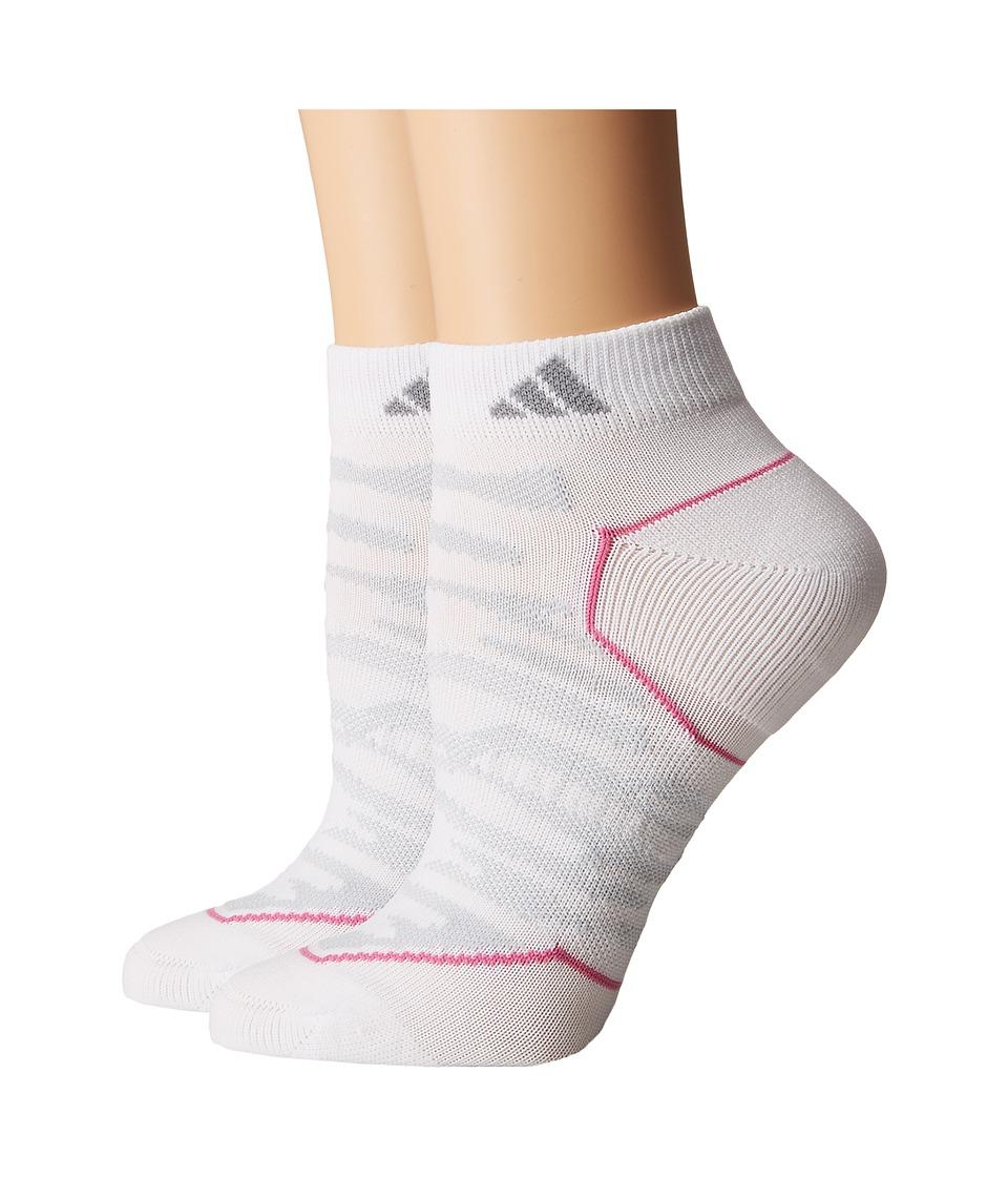 adidas - Superlite Prime Mesh 2-Pack Low Cut Socks (White/Clear Grey/Light Onix/Mono Pink) Women's Low Cut Socks Shoes