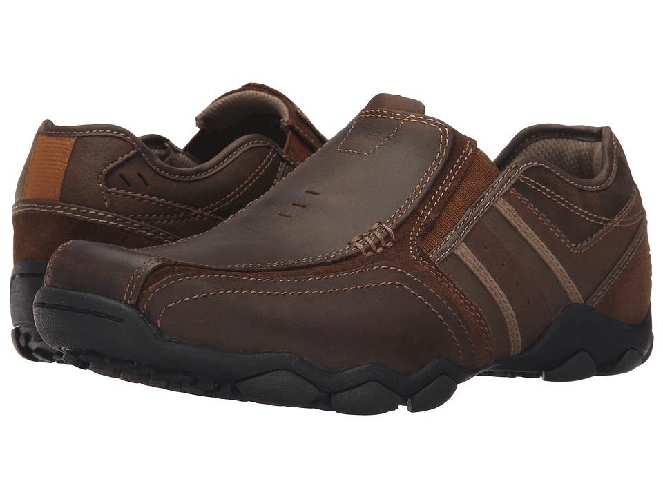SKECHERS Classic Fit Diameter Zinroy (Dark Brown Leather) Men