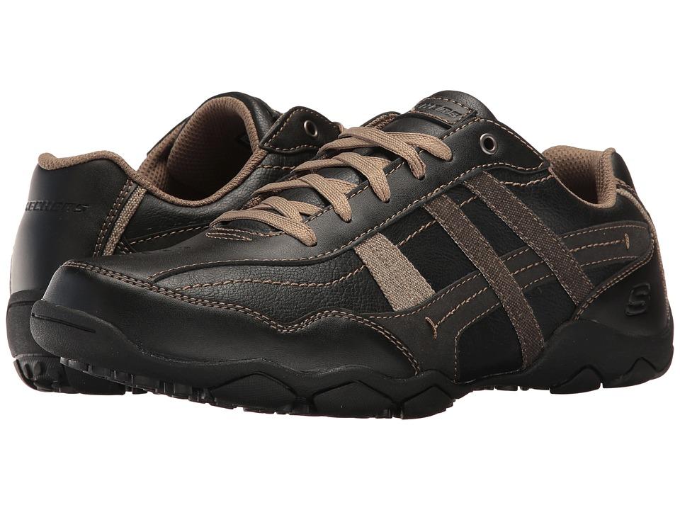 SKECHERS Classic Fit Diameter Herson (Black Leather) Men