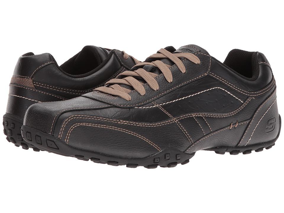 SKECHERS Classic Fit Citywalk Elison (Black Leather) Men