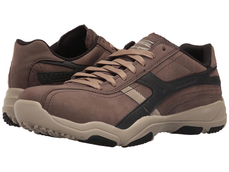 SKECHERS Classic Fit Larson Almelo (Chocolate Leather) Men