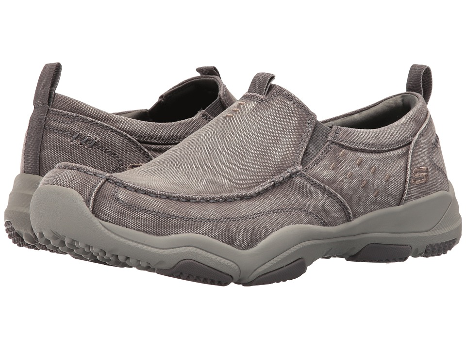 SKECHERS Classic Fit Larson Bolton (Gray Washed Canvas) Men
