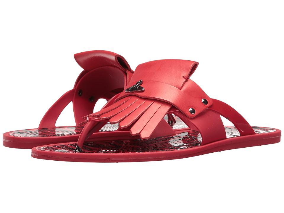 Vivienne Westwood Plastic Orb Fringe Sandal (Signal Red) Men